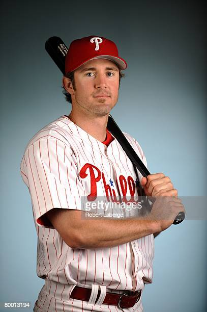 Chase Utley of the Philadelphia Phillies poses for a portrait during the spring training photo day on February 21, 2008 at Bright House Field in...