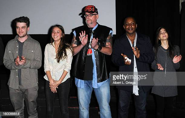 Chase Williamson Fabianne Therese Brett Wagner Tai Bennett Allison Weissman attend the Screening Of 'John Dies At The End' held at Landmark Nuart...