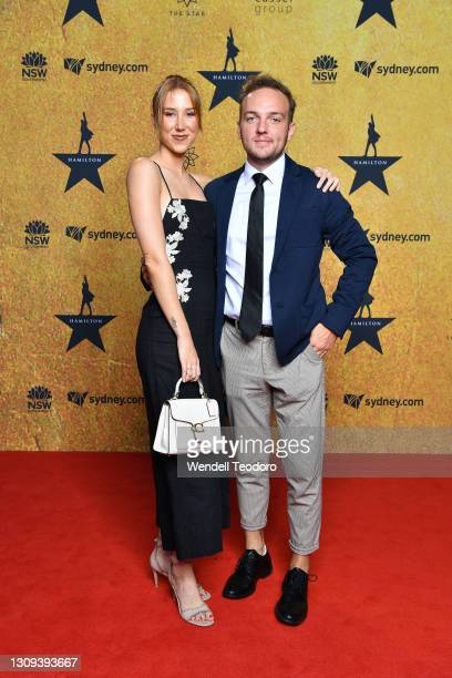Chase Zera attends the Australian premiere of Hamilton at Lyric Theatre, Star City on March 27, 2021 in Sydney, Australia.
