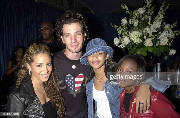 JC Chasez and 3LW during United We Stand Concert Backstage at RFK Stadium in Washington DC United States