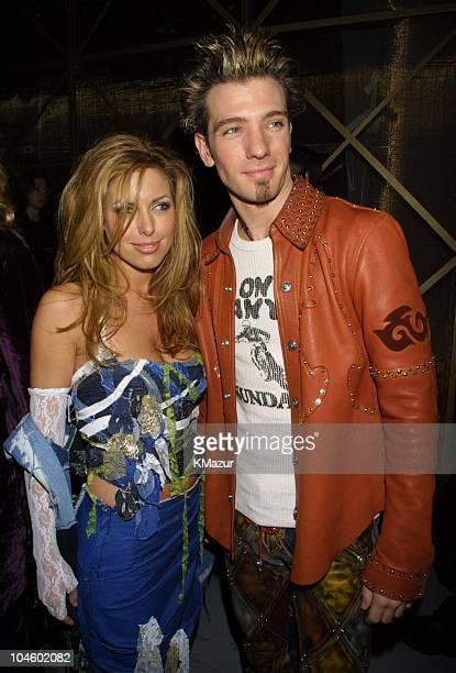 JC Chasez and girlfriend during The 28th Annual American Music Awards Columbia Records After Party at Las Palmas in Hollywood California United States