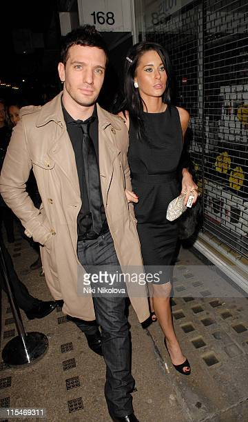 JC Chasez and guest during Brit Awards 2007 Sony BMG After Party at Tamari in London Great Britain