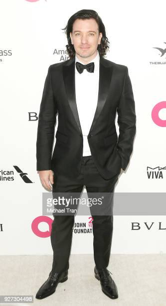 Chasez arrives to the 26th Annual Elton John AIDS Foundation's Academy Awards Viewing Party held at West Hollywood Park on March 4 2018 in West...