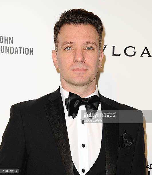 Chasez attends the 24th annual Elton John AIDS Foundation's Oscar viewing party on February 28 2016 in West Hollywood California