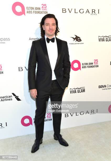 Chasez attends the 26th annual Elton John AIDS Foundation's Academy Awards Viewing Party at The City of West Hollywood Park on March 4 2018 in West...