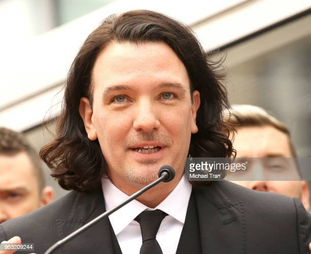 Chasez attends the ceremony honoring NSYNC with a Star on The Hollywood Walk of Fame held on April 30 2018 in Hollywood California