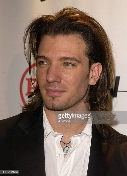 JC Chasez during 2003 Clive Davis PreGRAMMY Party Arrivals at The Regent Wall Street in New York City New York United States