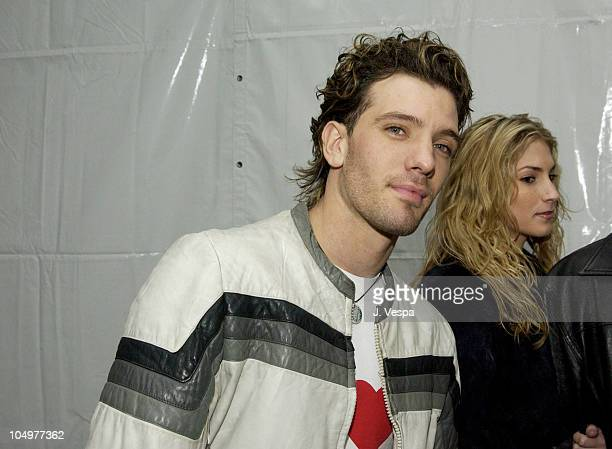 JC Chasez during 44th GRAMMY Awards MCA Records AfterParty at Sunset Plaza in Los Angeles California United States