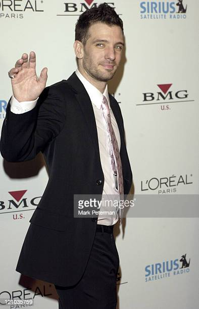 JC Chasez during Clive Davis' 2005 PreGRAMMY Awards Party Arrivals at Beverly Hills Hotel in Beverly Hills California United States