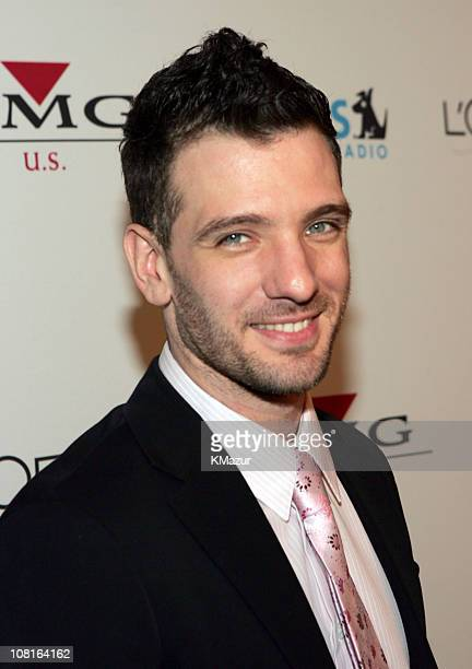 JC Chasez during Clive Davis' 2005 PreGRAMMY Awards Party Red Carpet at Beverly Hills Hotel in Beverly Hills California United States