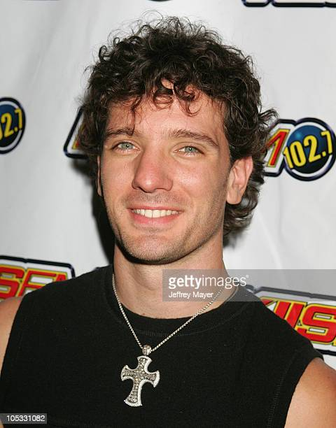 JC Chasez during KIIS FM's JoJo Jam at Knotts Berry Farm in Buena Park California United States