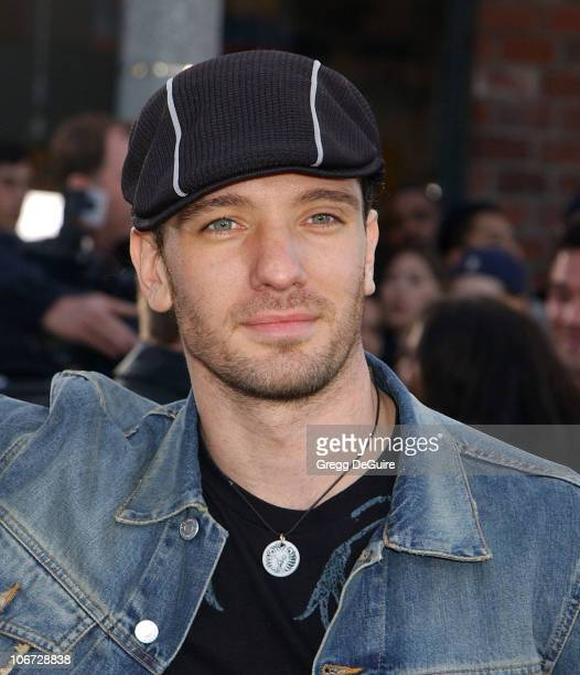 JC Chasez during The Matrix Reloaded Premiere at Mann Village Theatre in Westwood California United States