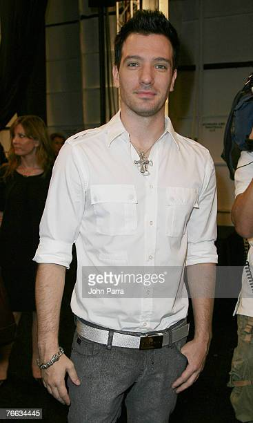 Chasez during the Rosa Cha 2008 Fashion Show at the Tent in Bryant Park during the MercedesBenz Fashion Week Spring 2008 on September 8 2007 in New...