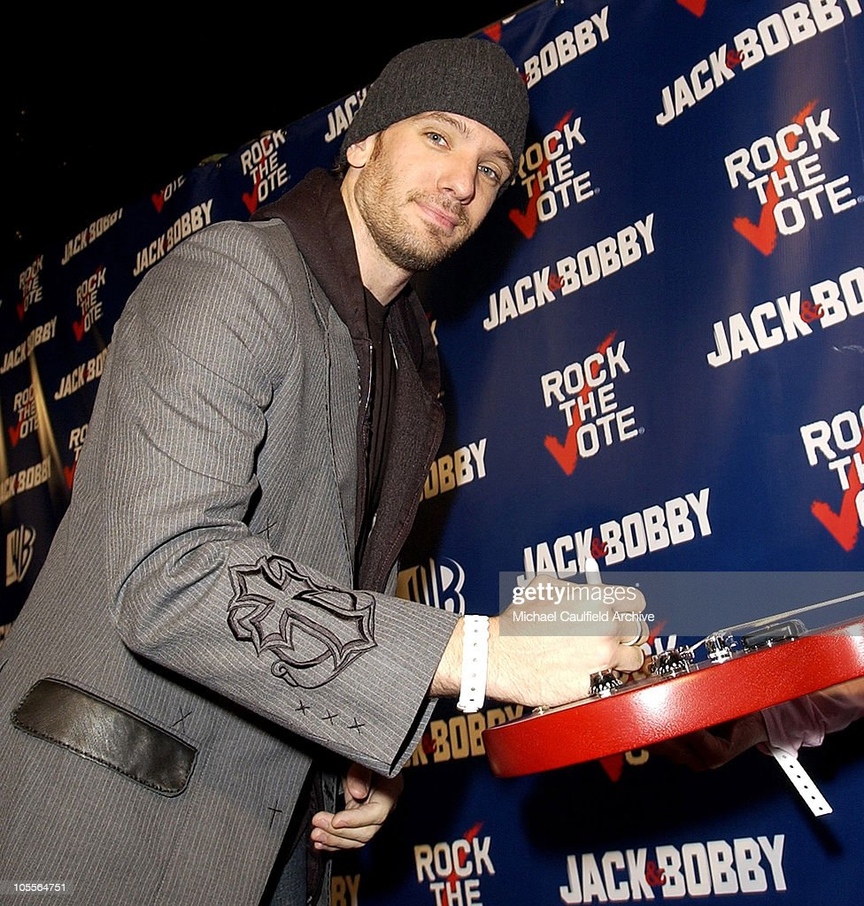 J.C. Chasez during The WB Network's 'Jack and Bobby' Rock the Vote Party -Inside at Warner Bros. Studios in Burbank, California, United States.