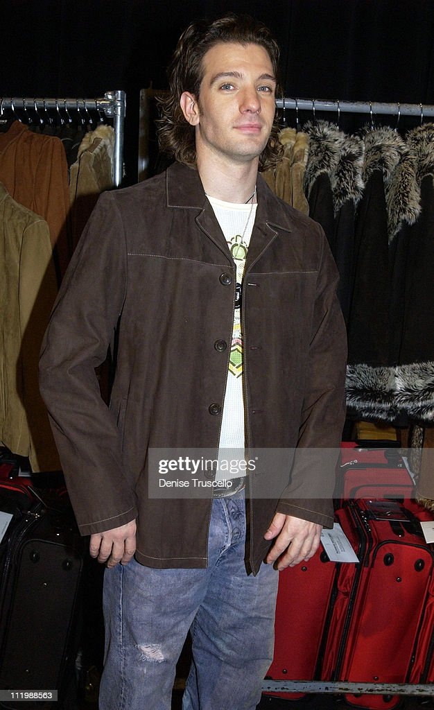 JC Chasez in a Wilson's Leather coat during 2002 Billboard Music Awards - Backstage Creations Talent Retreat - Show Day at MGM Grand Hotel in Las Vegas, Nevada, United States.