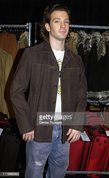 JC Chasez in a Wilson's Leather coat during 2002 Billboard Music Awards Backstage Creations Talent Retreat Show Day at MGM Grand Hotel in Las Vegas...