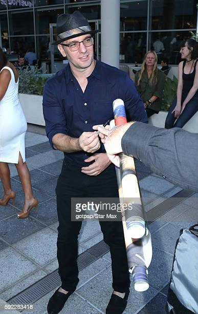 Chasez is seen at Sugarfish on August 19 2016 in Los Angeles California