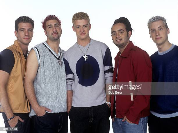 *NSYNC JC Chasez Joey Fatone Justin Timberlake Chris Kirkpatrick and Lance Bass pose for a August 1999 portrait in Los Angeles California