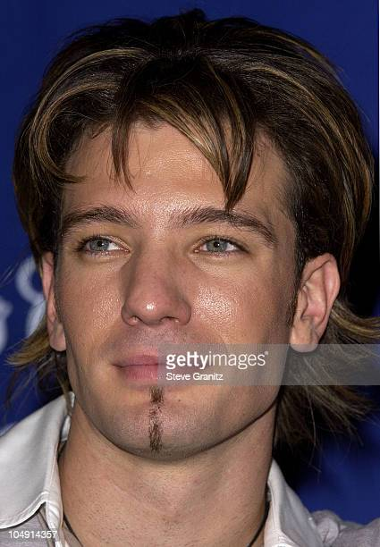 JC Chasez of 'N Sync during 28th Annual People's Choice Awards Deadline Photo Room at Pasadena Civic Auditorium in Pasadena California United States