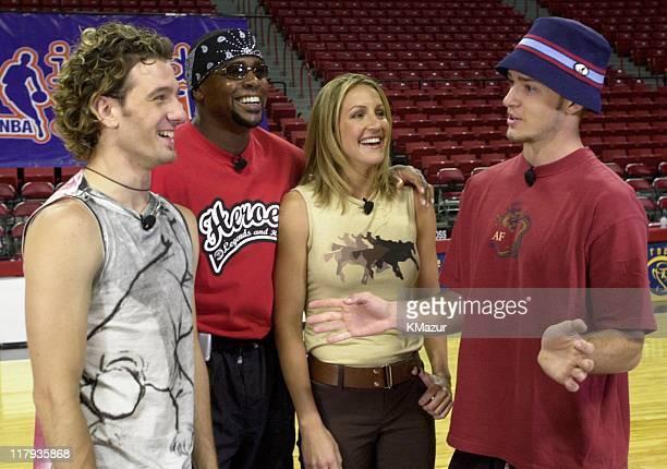 JC Chasez of *NSYNC Amhad Rashad Justin Timberlake