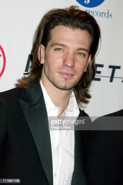 JC Chasez of N'SYNC during 2003 Clive Davis PreGRAMMY Party at The Regent Wall Street in New York NY United States