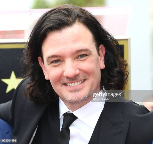 Chasez of NSYNC Honored With Star On The Hollywood Walk Of Fame on April 30 2018 in Hollywood California