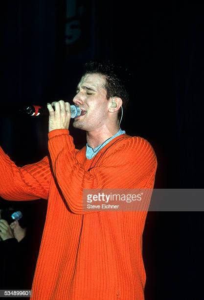 JC Chasez of N'Sync performs at World Aids Day Benefit Beacon Theater New York December 1999