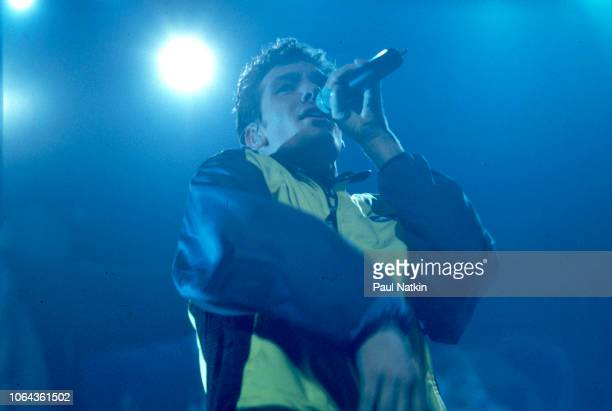 JC Chasez of the music group N'Sync perform on stage at the Rosemont Horizon in Rosemont Illinois March 26 1999