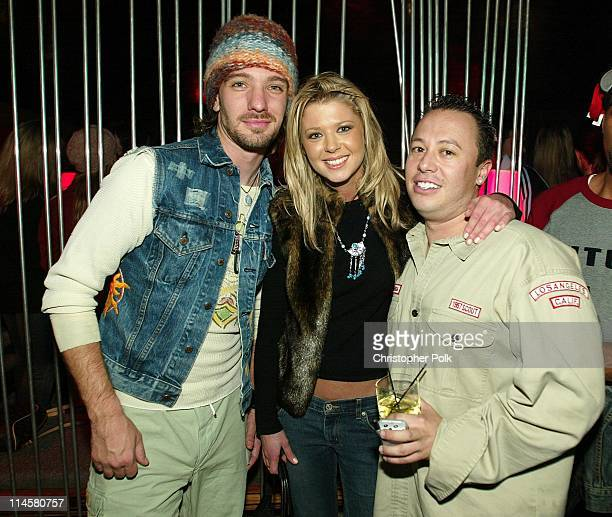 JC Chasez Tara Reid and Carlos Melgarejo during Frederick's of Hollywood Red Party and Fashion ShowParty at Falcon in Hollywood CA United States
