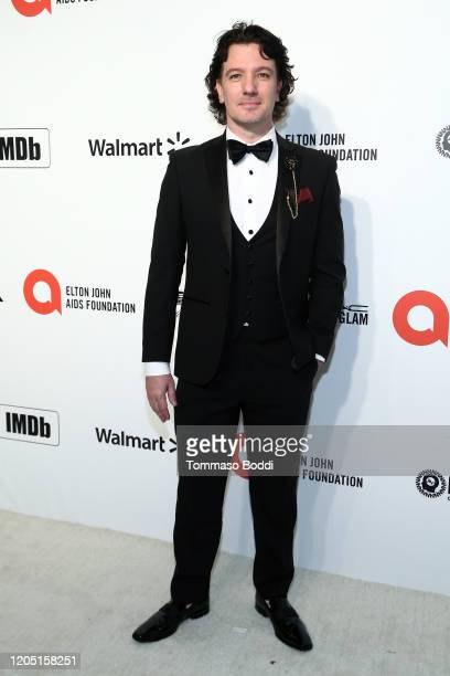 Chasez walks the red carpet at the Elton John AIDS Foundation Academy Awards Viewing Party on February 09 2020 in Los Angeles California