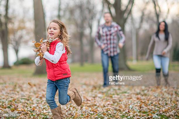 Chasing Each Other with Leaves