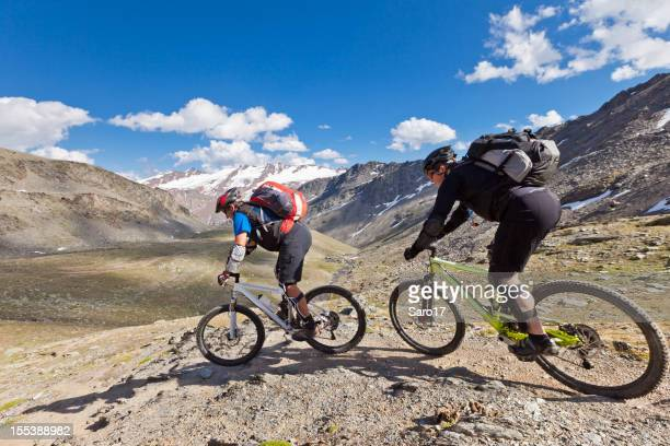 Chasing mountainbikers in South Tyrol