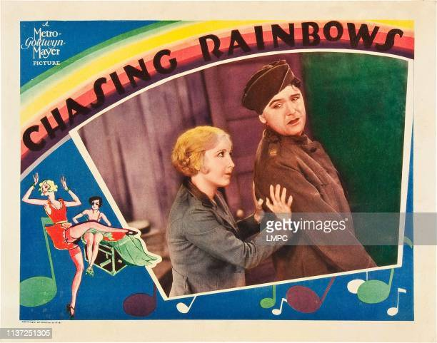 Chasing Rainbows US lobbycard from left Bessie Love Charles King 1930