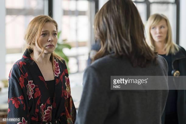 UNIT 'Chasing Theo' Episode 1813 Pictured Rachelle Lefevre as Nadine Le Doux Kelli Giddish as Detective Amanda Rollins