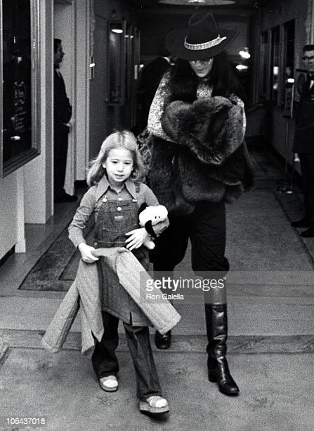 Chasity Bono and Cher during Cher Sighting at the Pierre Hotel in New York City November 23 1975 at Pierre Hotel in New York City New York United...