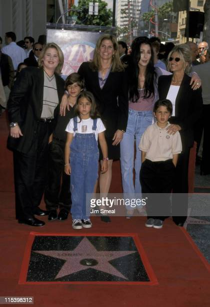 Chasity Bono Mary Bono and kids Chianna andCesare Cher and Christy Bono and son