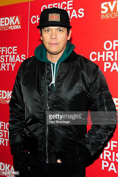 "Chaske Spencer attends the Paramount Pictures with Paramount Pictures with The Cinema Society & Svedka Host a Screening of ""Office Christmas Party""..."