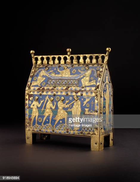 Chasse [or reliquary] circa 1190 Thomas Becket Casket' Dimensions height x width x depth 21 x 18 x 8 cm