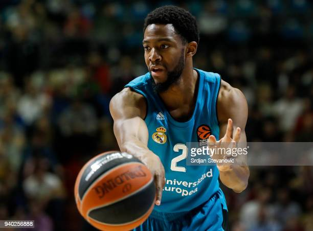 Chasson Randle of Real Madrid in action during the 2017/2018 Turkish Airlines EuroLeague Regular Season game between Crvena Zvezda mts Belgrade and...