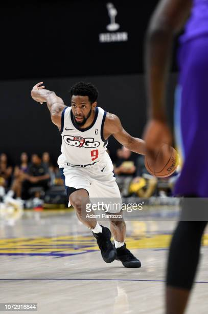 Chasson Randle of the Capital City GoGo handles the basketball against the South Bay Lakers on December 13 2018 at UCLA Heath Training Center in El...