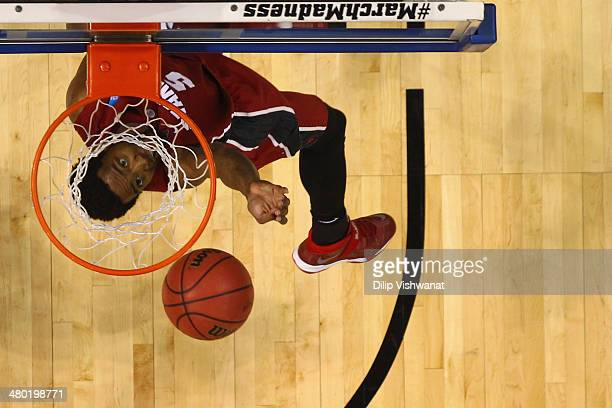 Chasson Randle of the Stanford Cardinal shoots the ball against the Kansas Jayhawks during the third round of the 2014 NCAA Men's Basketball...