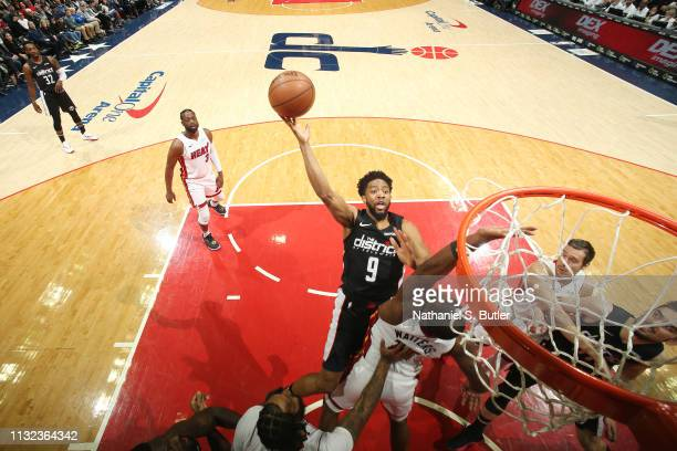 Chasson Randle of the Washington Wizards shoots the ball against the Miami Heat on March 23 2019 at Capital One Arena in Washington DC NOTE TO USER...