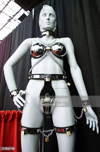 A chastity belt is displayed on a mannequin made by Access Denied during the Erotica USA 99 exhibit at the Jacob Javits Convention Center in New York...