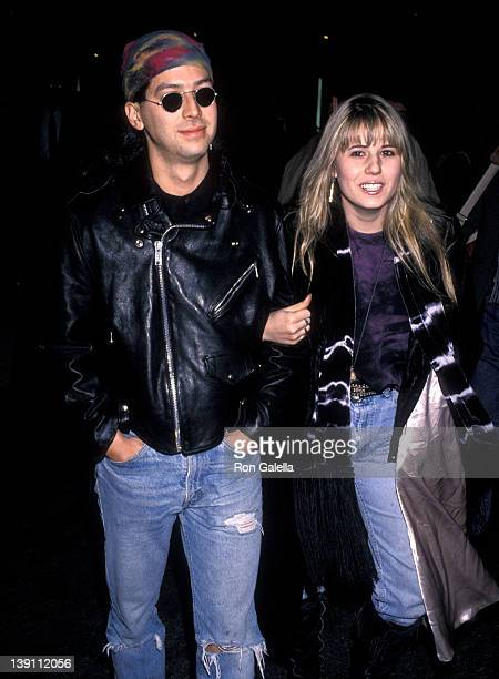 Chastity Bono and date Mitch Shiro attend the Cinema Paradiso New York City Premiere on January 31 1990 at Alice Tully Hall Lincoln Center in New...