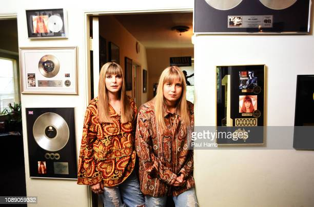 Chastity Bono and girlfriend Heidi Shink aka Chance in their music office May 1 1993 on Melrose Avenue Los Angeles California