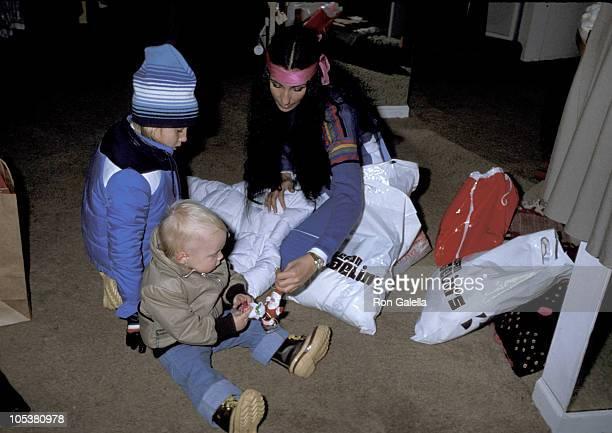 Chastity Bono Elijah Blue Allman and Cher during Cher Elijah Blue Allman and Chastity Bono Sighting December 12 1977 in Aspen Colorado United States