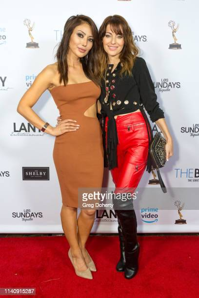 "Chasty Ballesteros and Nadia Lanfranconi attend ""The Bay"" The Series Pre-Emmy Red Carpet Celebration at The Shelby on May 2, 2019 in Los Angeles,..."