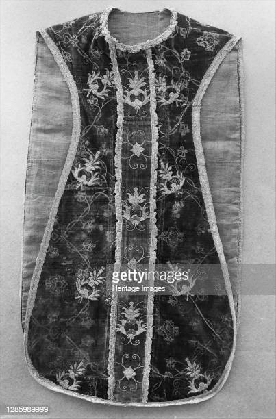 Chasuble with Pomegranate Design, British, 15th-16th century. Artist Unknown.