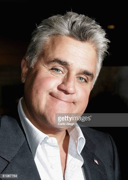 Chat show host Jay Leno arrives for the Premiere of HBO's Documentary My Uncle Berns on July 20 2004 at the Museum of Tolerance in Los Angeles...