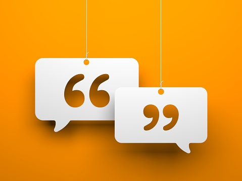 Chat symbol and Quotation Mark 517899146